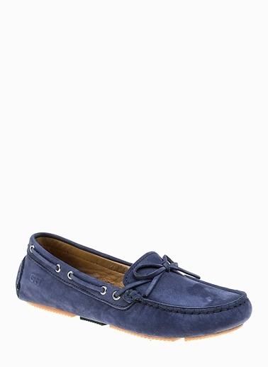George Hogg %100 Deri Loafer Ayakkabı Mavi